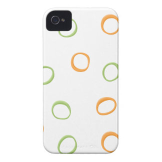 Painted Retro Circles green 4/4S ID Case