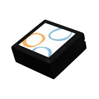 Painted Retro Circles orange blue Gift Box