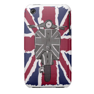 painted retro scooter and union jack iPhone 3 cover