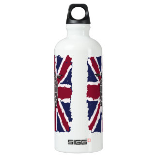 painted retro scooter and union jack water bottle