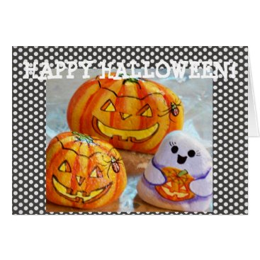 Halloween Themed Painted Rocks Halloween Card Ghost Personalized
