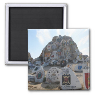 Painted Rocks, National Training Center 2 Inch Square Magnet