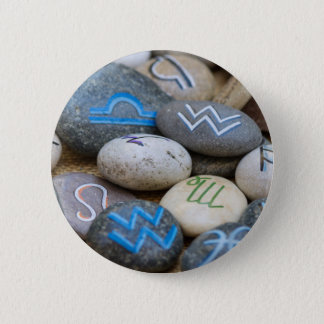 painted rocks pinback button