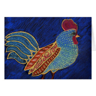 Painted Rooster-Greeting Card