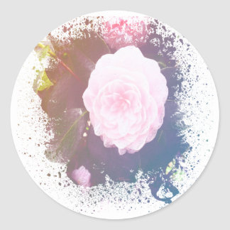 Painted Rose Classic Round Sticker