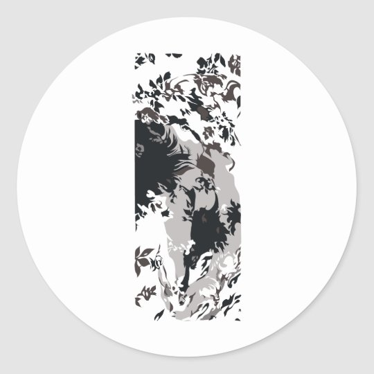 Painted Roses Classic Round Sticker