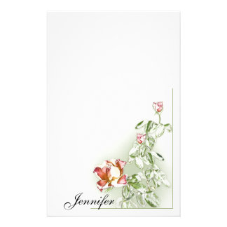 Painted Roses Stationery - personalize