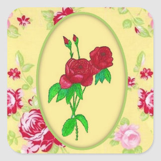 Painted Roses Sticker