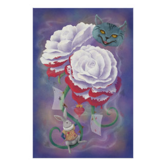 Painted Roses Wonderland Poster