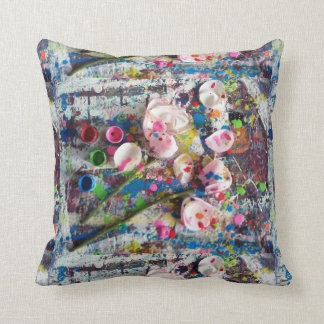 Painted scattered rose petals pillows