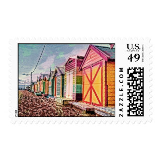Painted Sea Baths Postage
