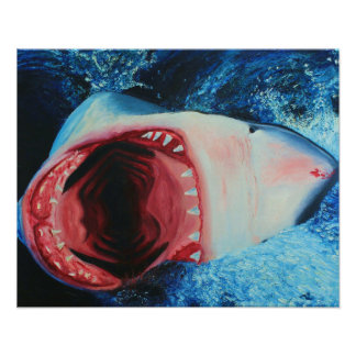 Painted Shark Poster