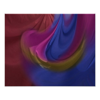 Painted Sheets Abstract No 18 Poster