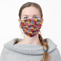 Painted Shield Pattern Adult Cloth Face Mask