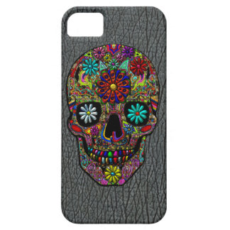 Painted Skull Floral Art iPhone SE/5/5s Case