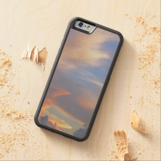 """""""PAINTED SKY"""" CARVED/ WOODEN CASE FOR iPHONE 6"""
