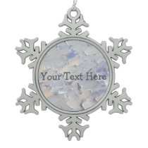 Painted Sky Snowflake Pewter Christmas Ornament