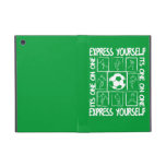 Painted soccer motivational iPad mini case