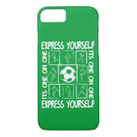 Painted soccer motivational iPhone 7 case