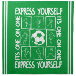 Painted soccer motivational printed napkin