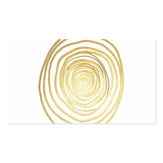 Painted Spiral Swirl in Faux Sparkly Gold Business Card