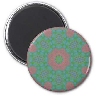 Painted Spring Colors Mandala Magnet
