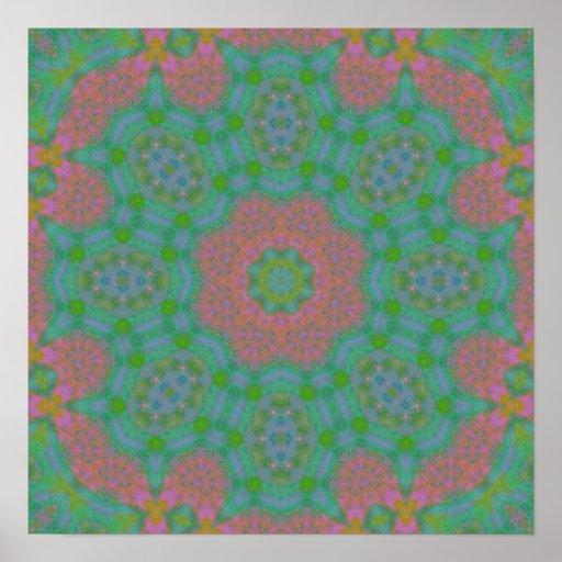 Painted Spring Colors Mandala Print