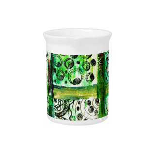 Painted Squares Art 2 Beverage Pitcher