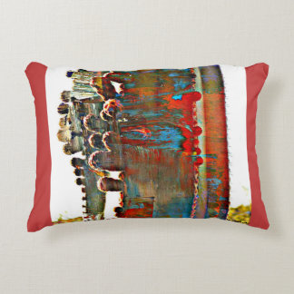 Painted Stove Pipe Cactus Accent Pillow