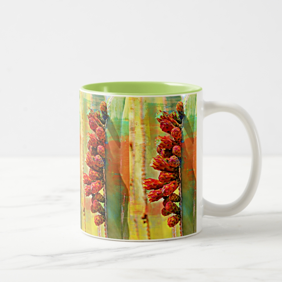 Painted Stove Pipe Cactus Coffee  Mug - Stylish, Designer Drinkware With Unlimited Creativity