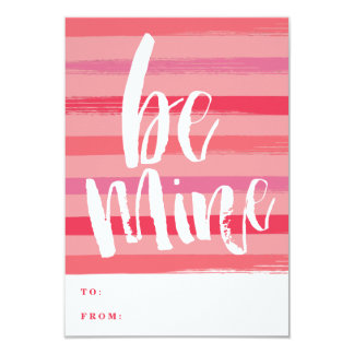Painted stripe classroom valentine card