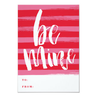 Painted stripe classroom valentine day card