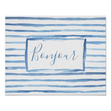 Art Themed Painted Stripes Customizable Art Poster