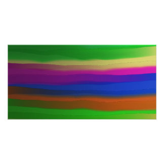Painted Stripes Photo Cards
