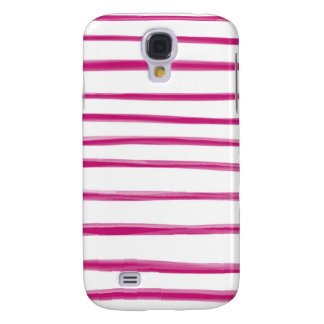 Painted Stripes: Raspberry Bliss Samsung Galaxy S4 Cover