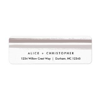 Painted stripes   Return address labels