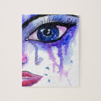 Painted Stylized Face 3 Jigsaw Puzzle