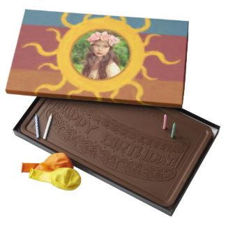 Painted Sun Custom Photo Template Milk Chocolate Bar