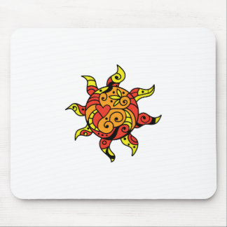 PAINTED SUN MOUSE PAD