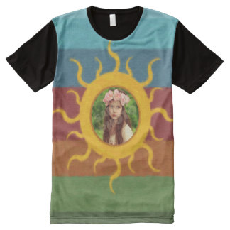 Painted Sun Photo Template All-Over Print T-shirt