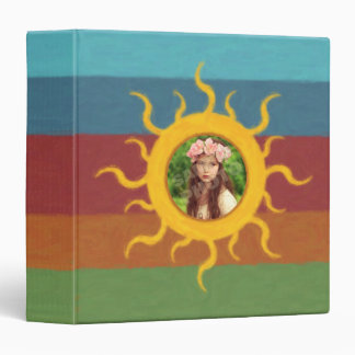 Painted Sun Photo Template Binder