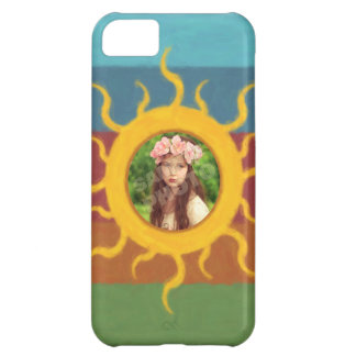 Painted Sun Photo Template iPhone 5C Cases