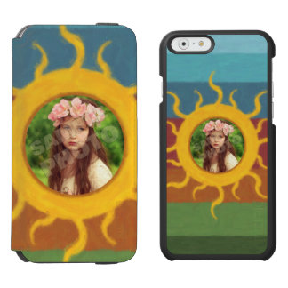Painted Sun Photo Template iPhone 6/6s Wallet Case