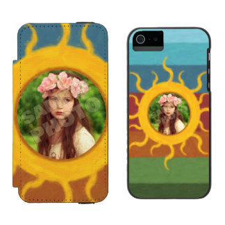 Painted Sun Photo Template iPhone SE/5/5s Wallet Case