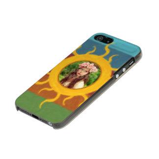 Painted Sun Photo Template Metallic iPhone SE/5/5s Case