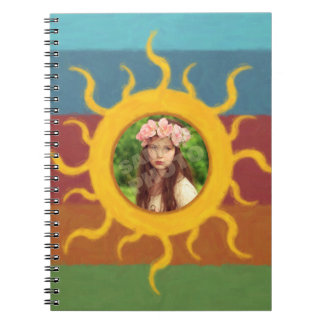 Painted Sun Photo Template Notebook