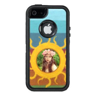 Painted Sun Photo Template OtterBox Defender iPhone Case