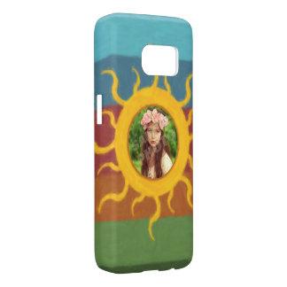 Painted Sun Photo Template Samsung Galaxy S7 Case