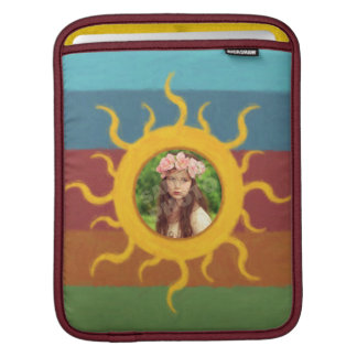 Painted Sun Photo Template Sleeve For iPads