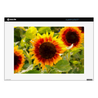 Painted Sunflower. Laptop Skins